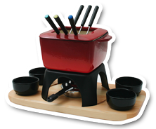 a fondue for meat
