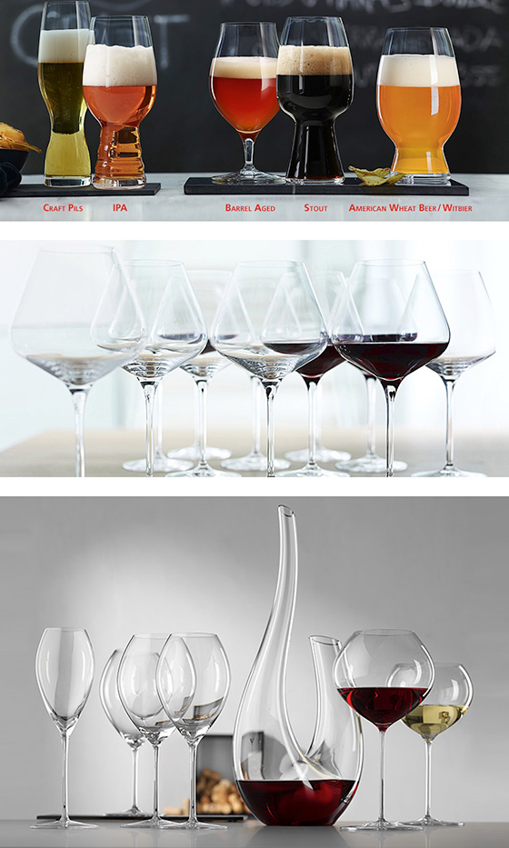 Beer and Wine glasses